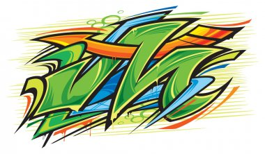 Vector illustration of Graffiti art