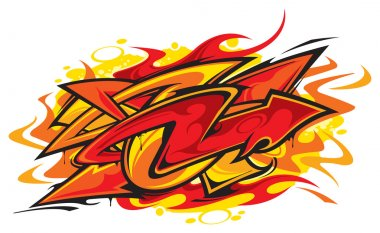 Vector illustration of Graffiti
