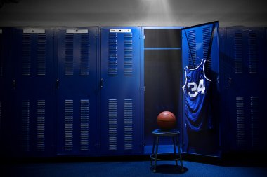 Basketball locker room