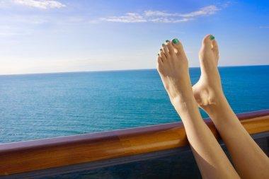 Relaxing onboard a cruise ship