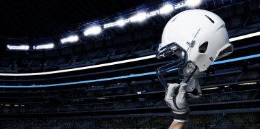Raised football helmet