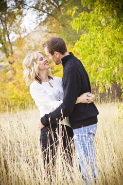 Beautiful Couple Sharing a Kiss