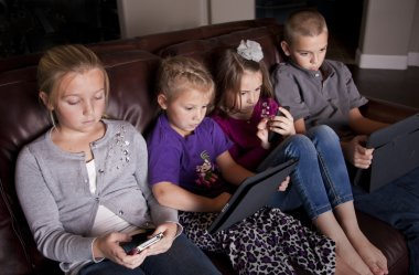 Kids using Mobile Devices