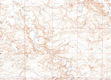 Old Topographical Map