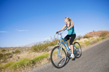 Fit Female on a Bike Ride