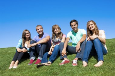 Smiling Multi-racial Young Adults