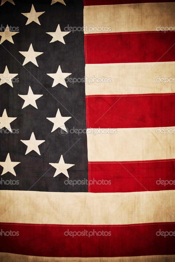 Antique American Flag Background Photo By Yobro10