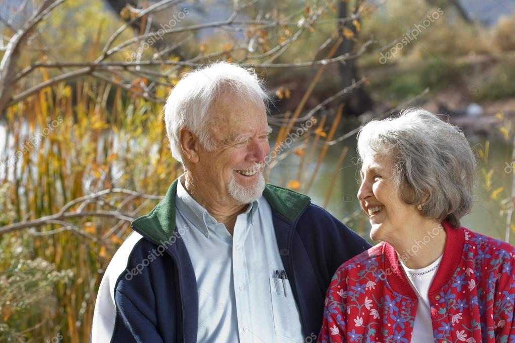 Senior elderly couple