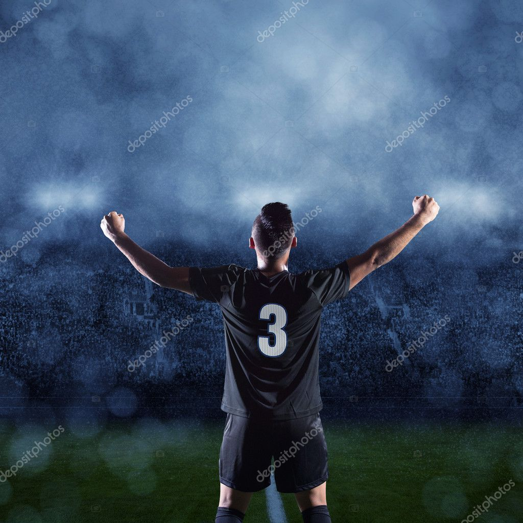 Hispanic Soccer Player celebrating a victory