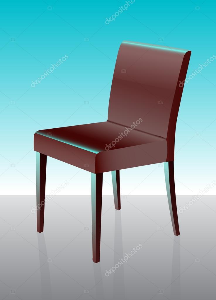 silla de comedor moderna roja — Vector de stock © lkeskinen0 #12452860