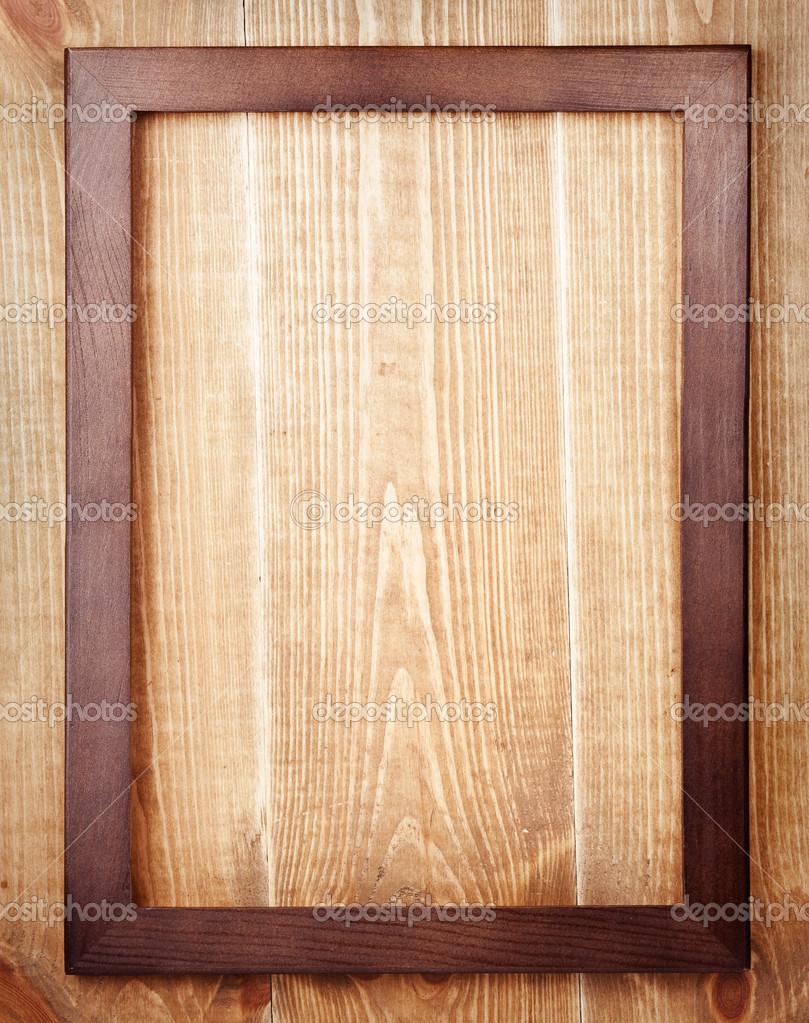 marco de madera vieja sobre fondo de madera — Fotos de Stock ...