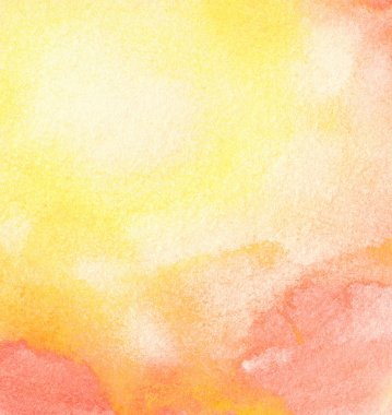Abstract watercolor sun, colorful summer background.