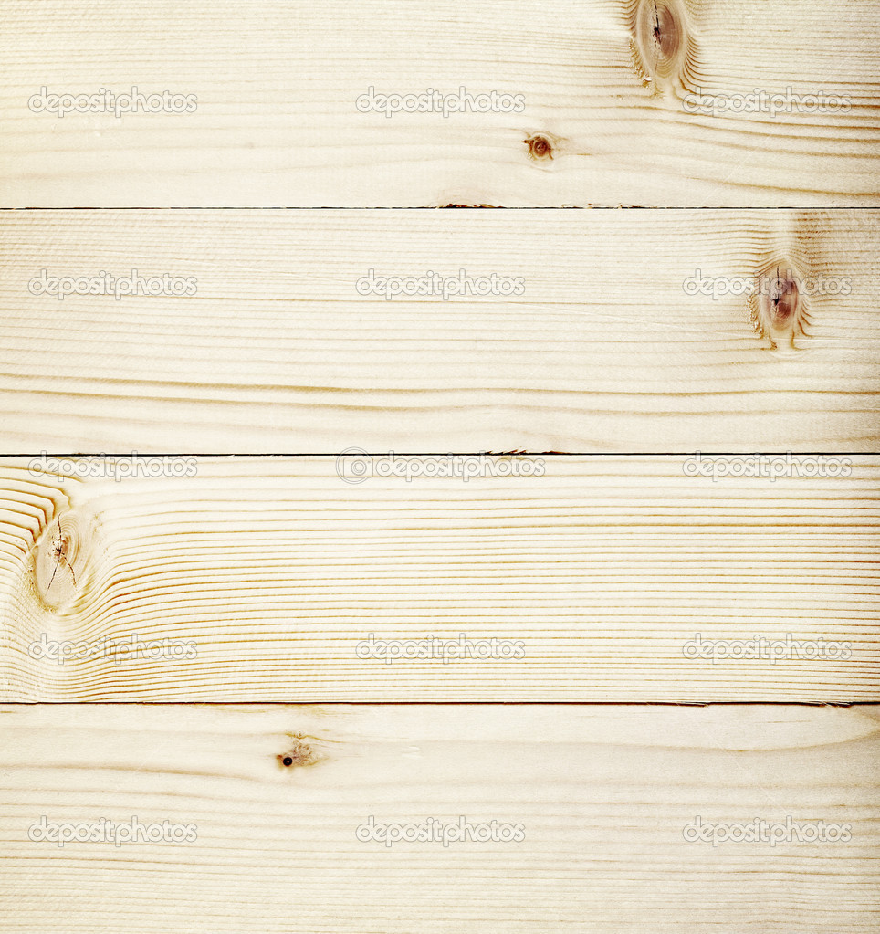 Light Wooden Planks Texture With Branch Stock Photo