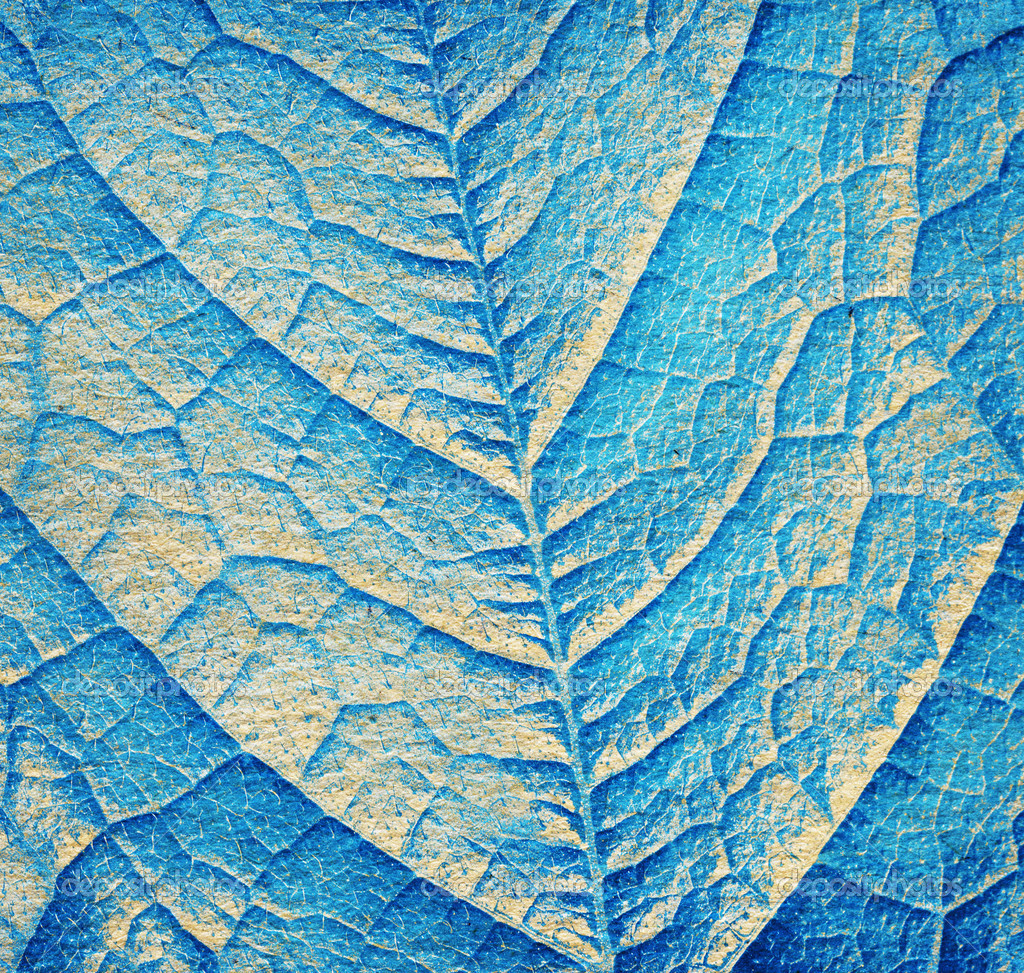 Blue leaf texture, close up background — Stock Photo ...