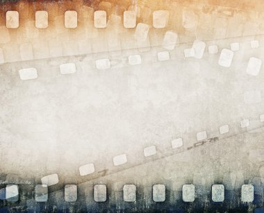 grunge colorful film strip background