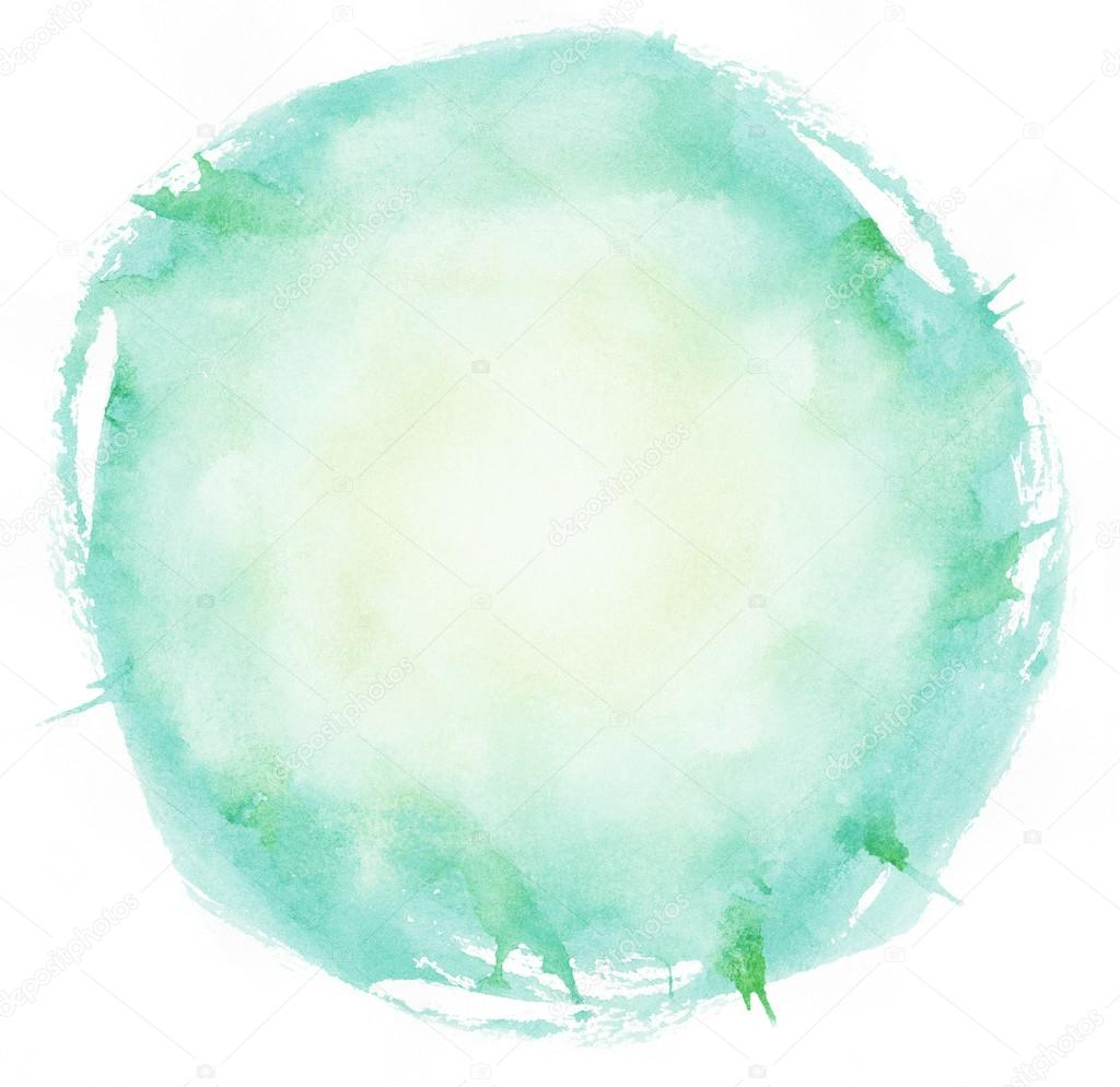 bright watercolor brush strokes circle