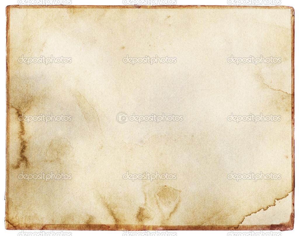 antigua, vintage teñida textura de papel con el marco — Fotos de ...
