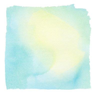 Painted colorful watercolor square. Design element