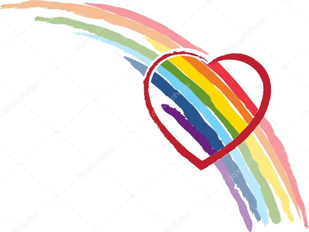 """Луч Афродиты  """"Золотые Нити"""" Depositphotos_29024443-stock-illustration-heart-rainbow"""