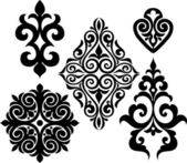 Set elements of ethnic ornament