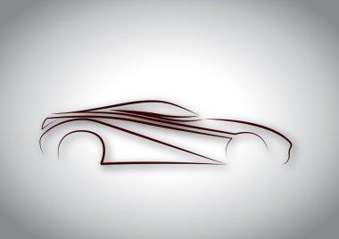 Yansımalı karakalem araba logosu