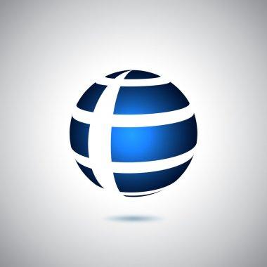 Mavi meridyenli dünya logosu