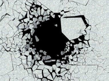 Destruction of wall