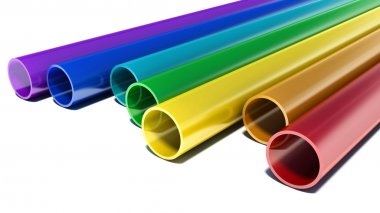 Tubes with rainbow colors