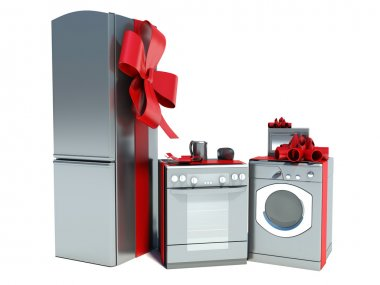 Home appliance with ribbons