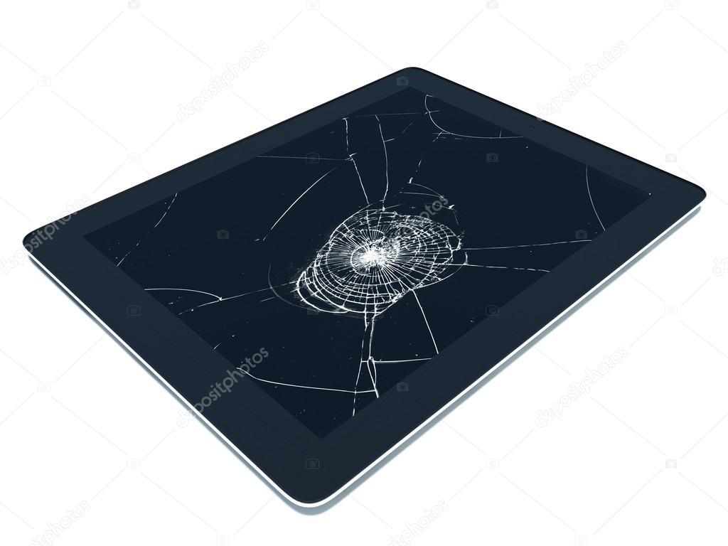 tablette pc avec cran cass photographie stockernumber2 50847483. Black Bedroom Furniture Sets. Home Design Ideas