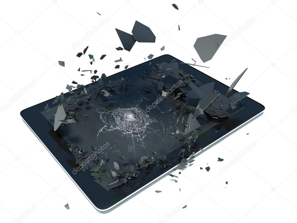 tablette pc avec cran cass photographie stockernumber2 50847517. Black Bedroom Furniture Sets. Home Design Ideas