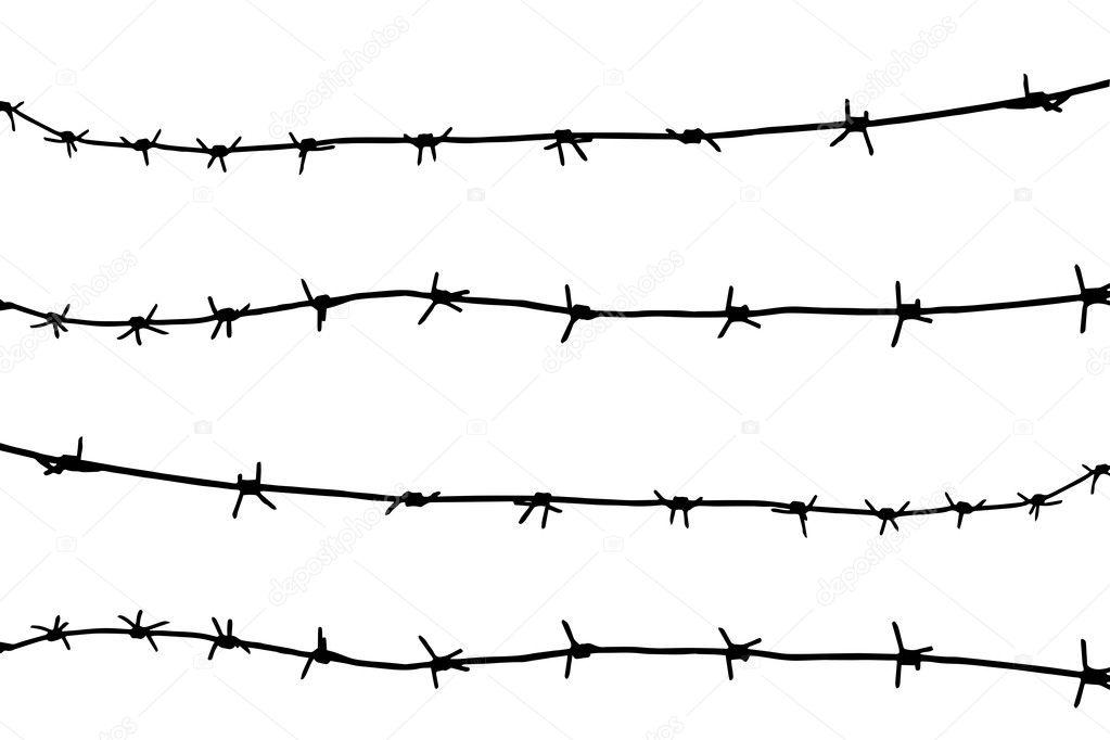 Barbed wire Fence — Stock Vector © hi6un #12161887