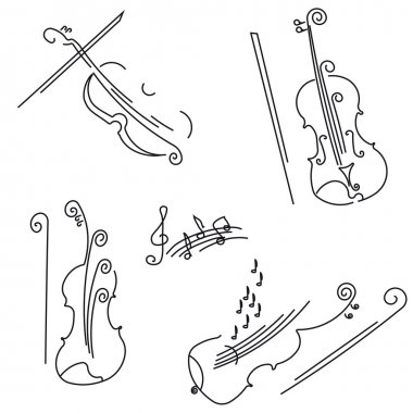 Violin. Collection for your design.