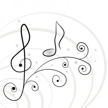 Music background. A vector illuustration