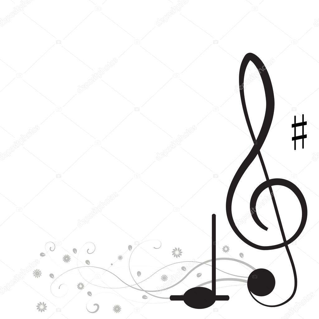 Musica Chiave Di Violino E Note Per Il Vostro Disegno Su Sfondo
