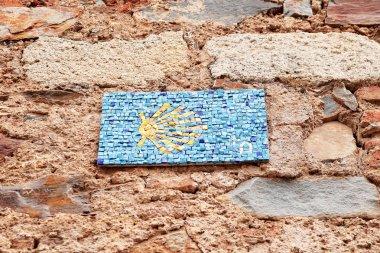 Sign of the Camino de Santiago