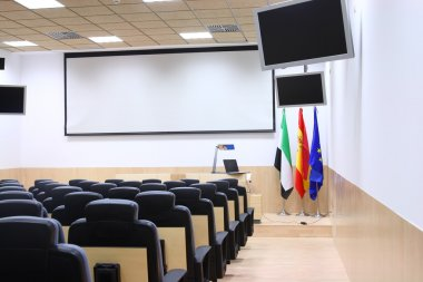 Partial view of conference room