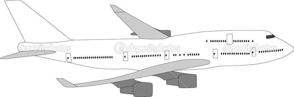 Imágenes: aviones comerciales para colorear | avión de pasajeros ...