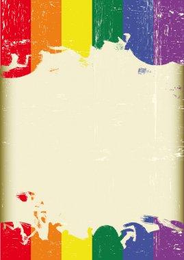 Grunge Gay flag