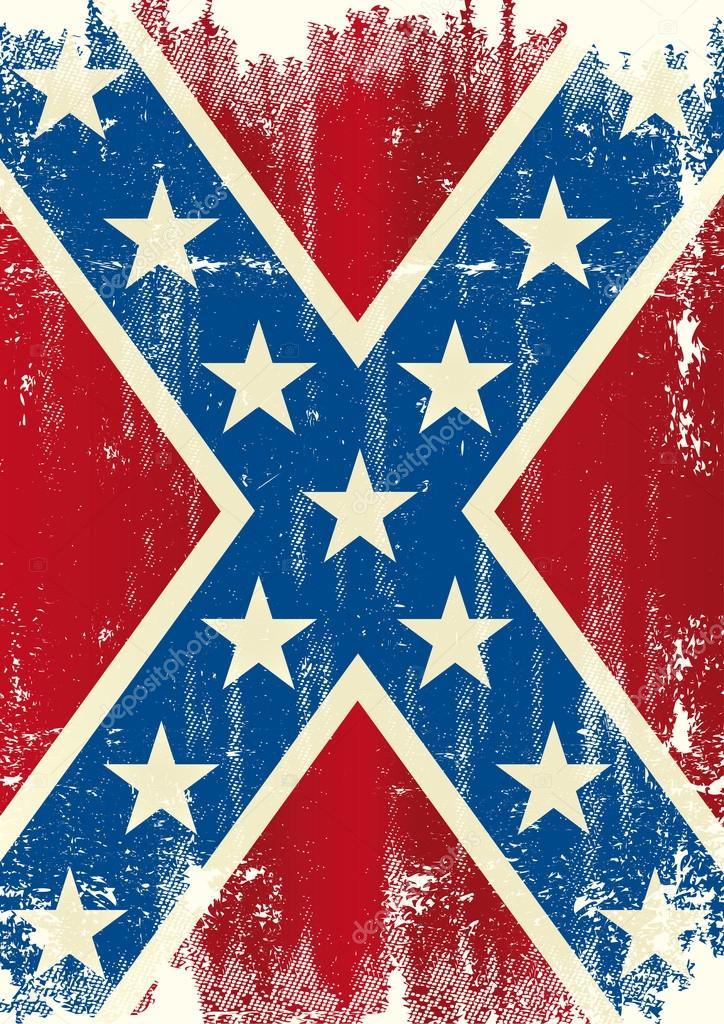 Grunge patriotic confederate flag — Stock Vector ...