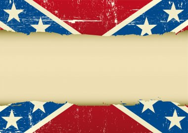 Confederate scratched flag