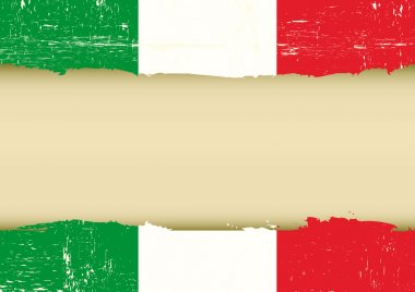 Italian scratched flag