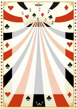 Vintage poker background.