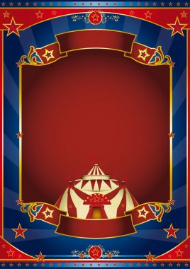Circus magic red frame
