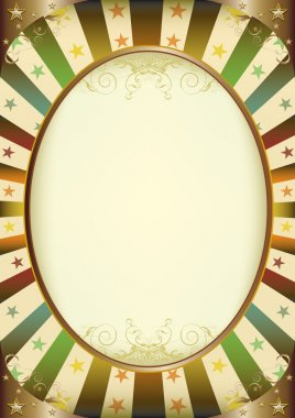 Circus multicolor sunbeams frame poster with frame