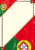 Portugália grunge levél.