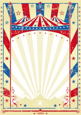 Old tricolor poster big top