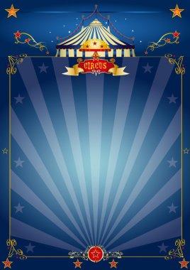 Magic blue circus poster