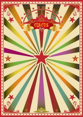 Circus color card