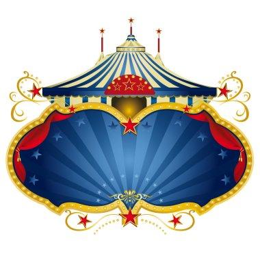 Blue circus frame